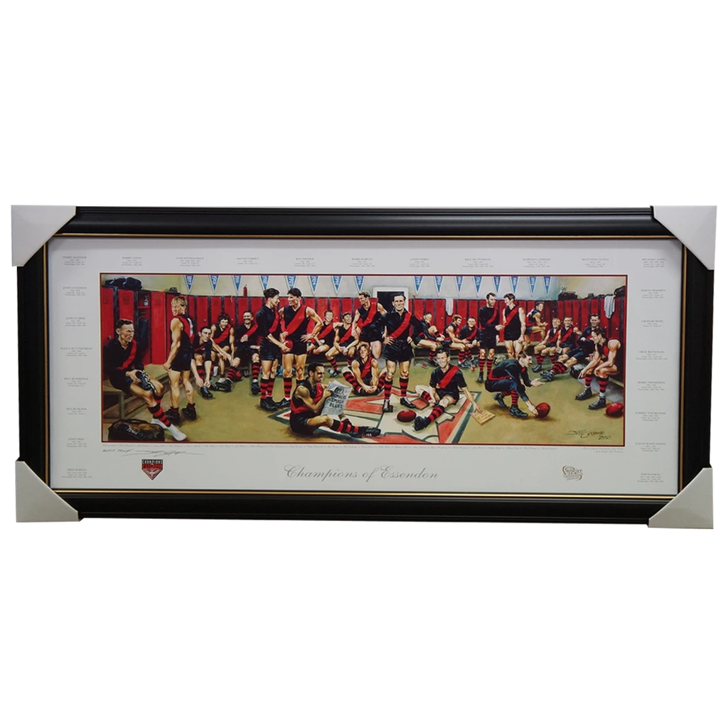 Champions of Essendon Limited Edition Jamie Cooper Signed Print Framed - 1943