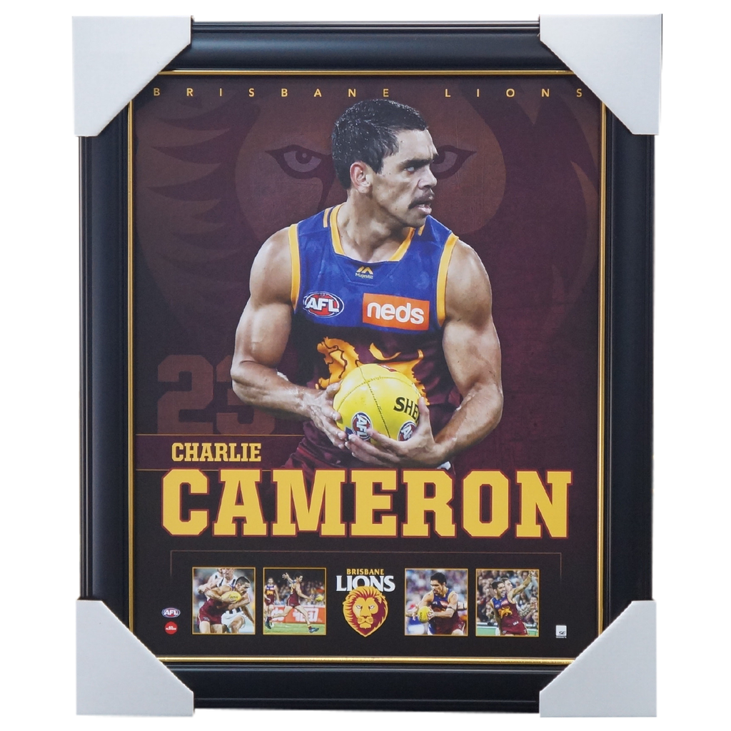 Charlie Cameron Brisbane Lions F.c. Official Afl Licensed Print Framed New - 3753