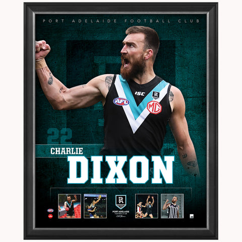 Charlie Dixon Port Adelaide F.c. Official Licensed Afl Print Framed New - 4482