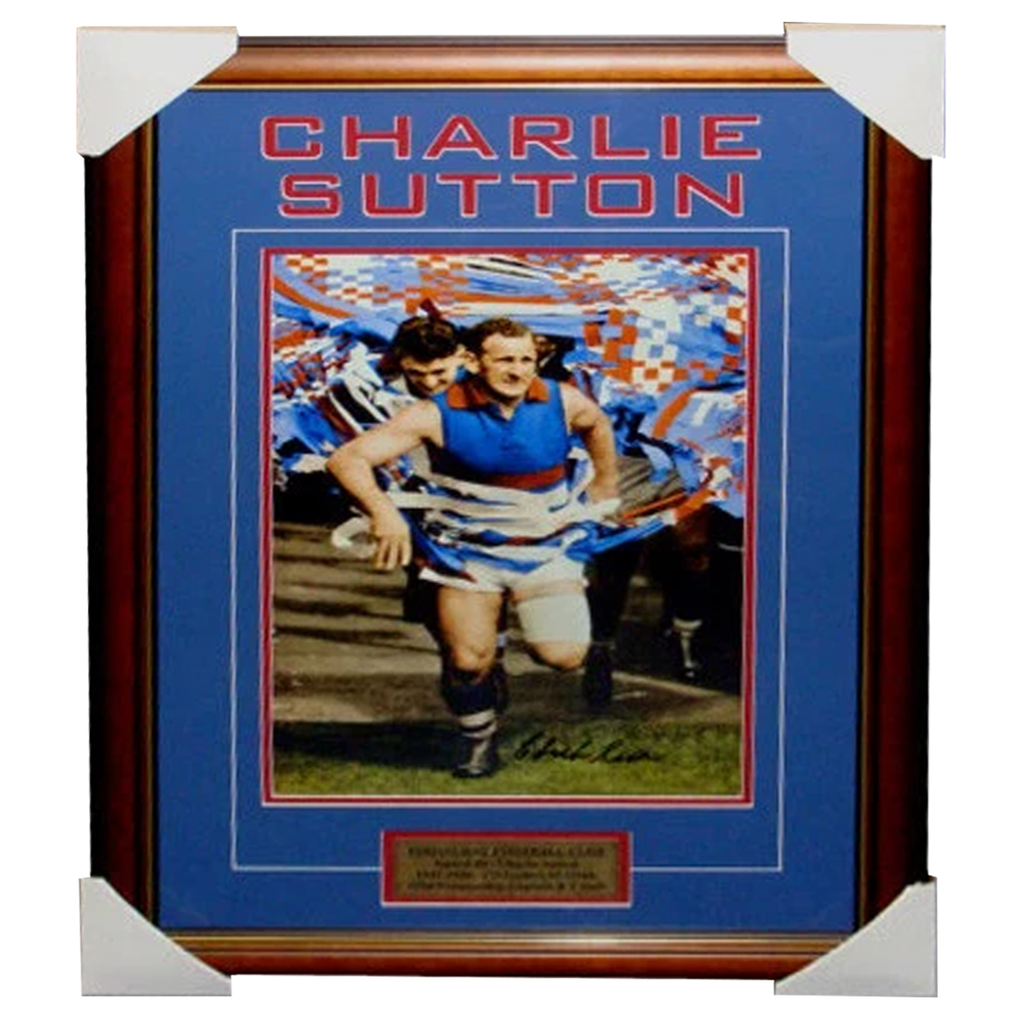 Charlie Sutton Footscray Captain Signed Photo Framed - 3553