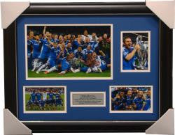 Chelsea 2012 Champions League Winners Collage Framed - 1435