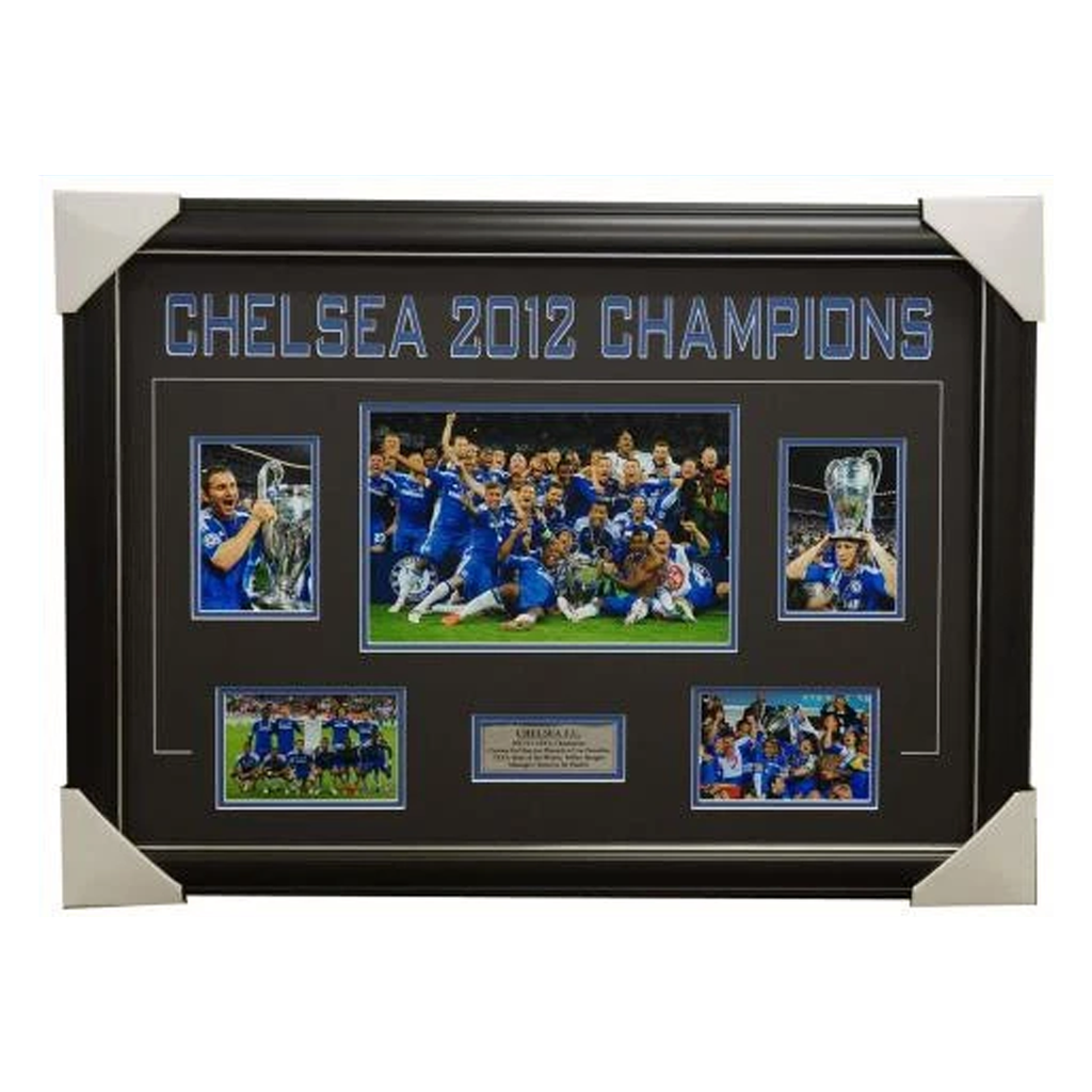 Chelsea 2012 Champions League Winners Photo Collage Framed - 4005