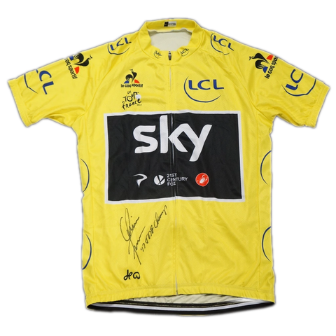 Chris Froome Signed 2017 Yellow Tour De France Champions Jersey Brand New - 3675