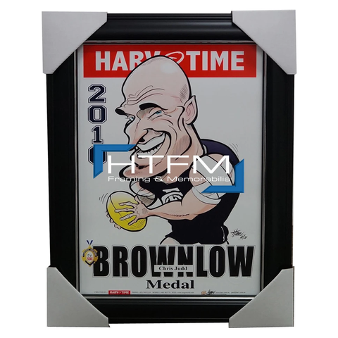 Chris Judd Carlton 2010 Brownlow Medal Harv Time Limited Edition Print Framed - 1832