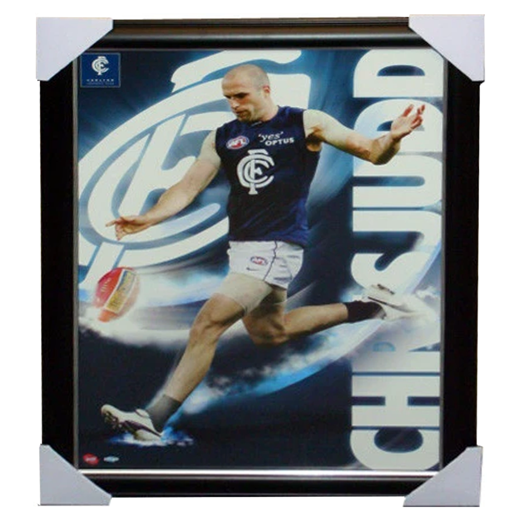 Chris Judd Limited Edition Carlton Print Framed - 1530