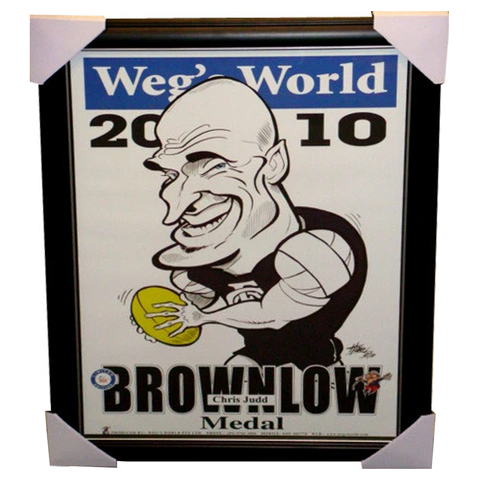 Chris Judd Weg's World Limited Edition Brownlow Print Framed