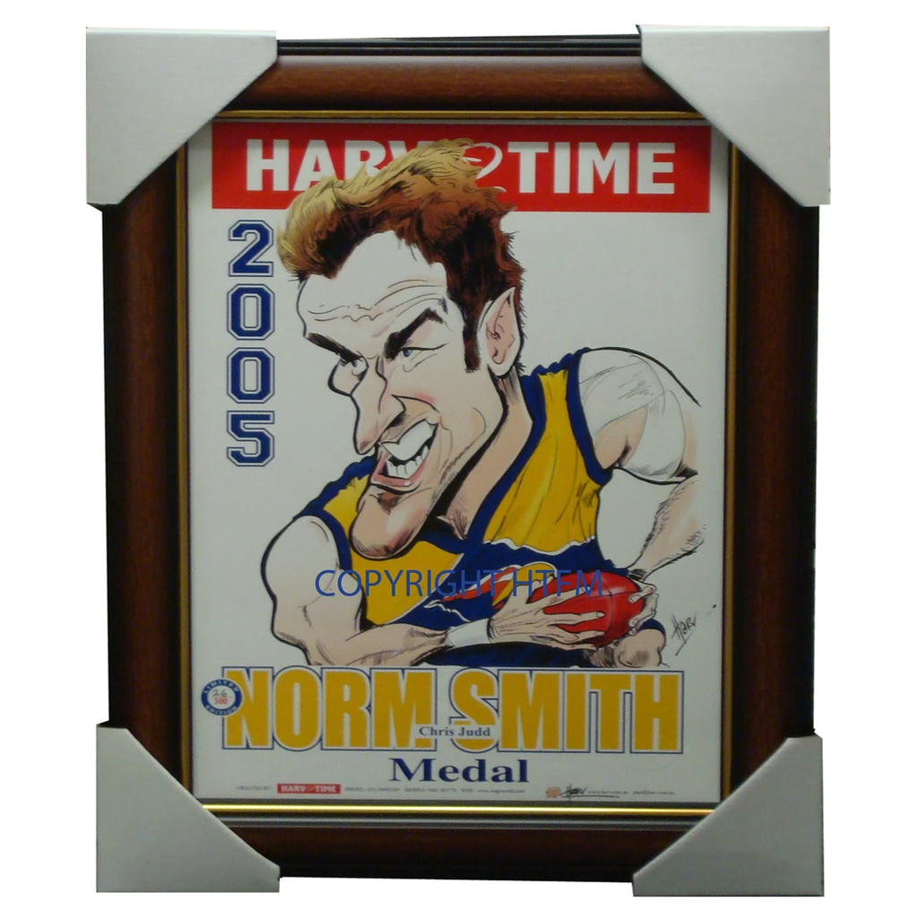 Chris Judd West Coast Eagles 2005 Norm Smith Medallist L/e Print Framed - 1562