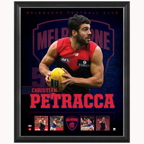 Christian Petracca Melbourne F.C. Official Licensed AFL Print Framed NEW - 4484