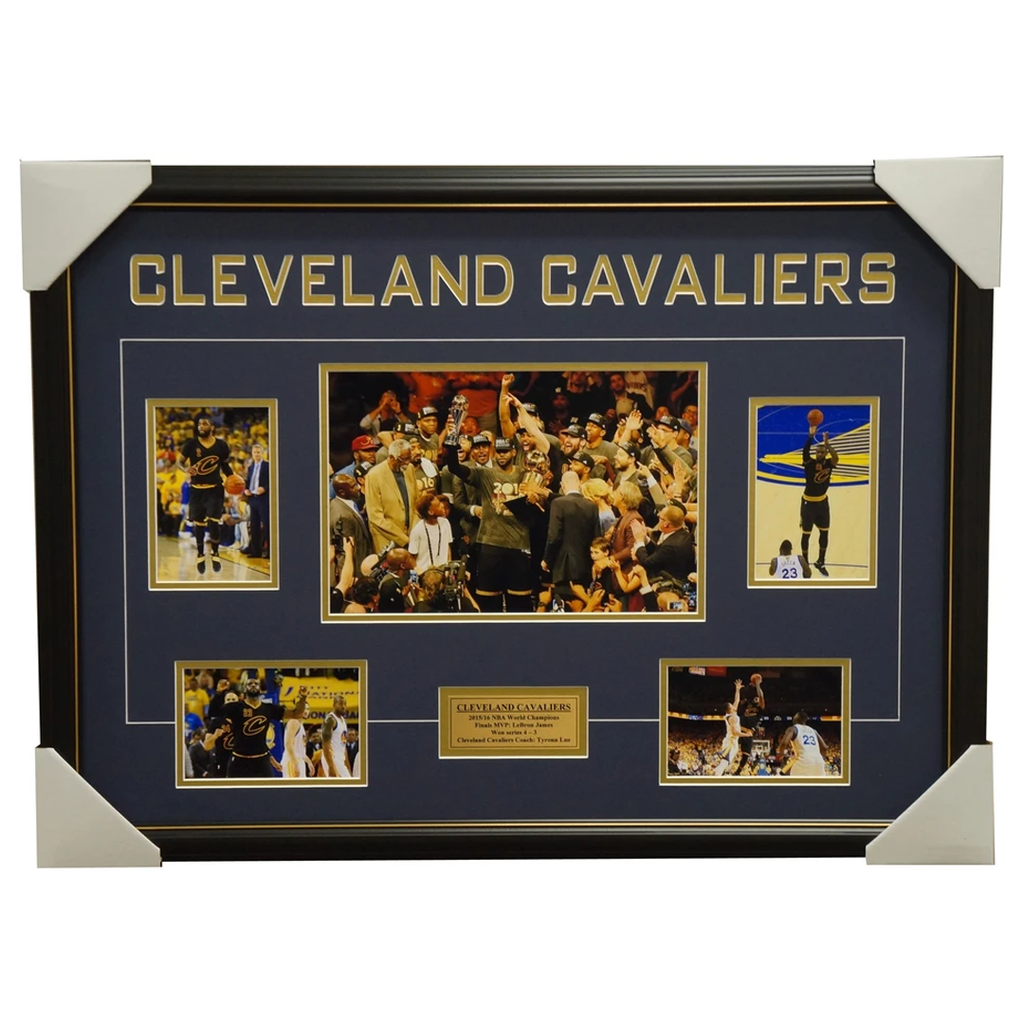 Cleveland Cavaliers 2016 Nba Champions Photo Collage Framed Lebron James - 2907