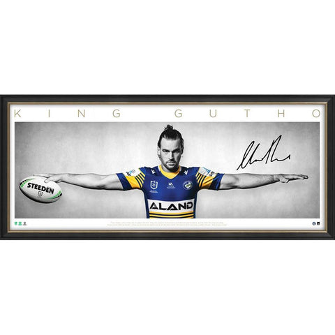 Clint Gutherson Signed Parramatta Eels Official NRL Wings Print Framed - 4723