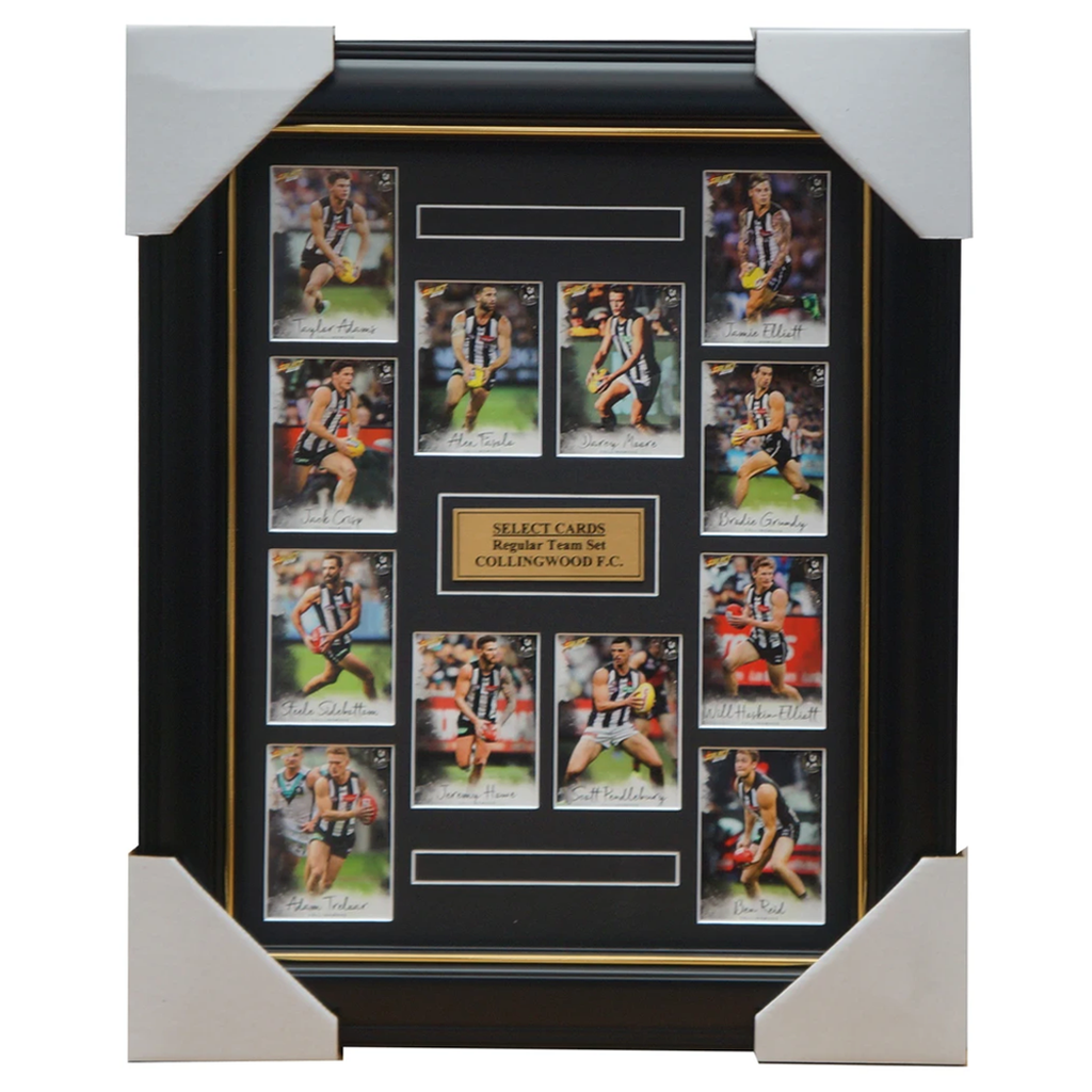 Collingwood Magpies 2018 Select Card Team Set Framed Scott Pendlebury Sidebottom - 3357