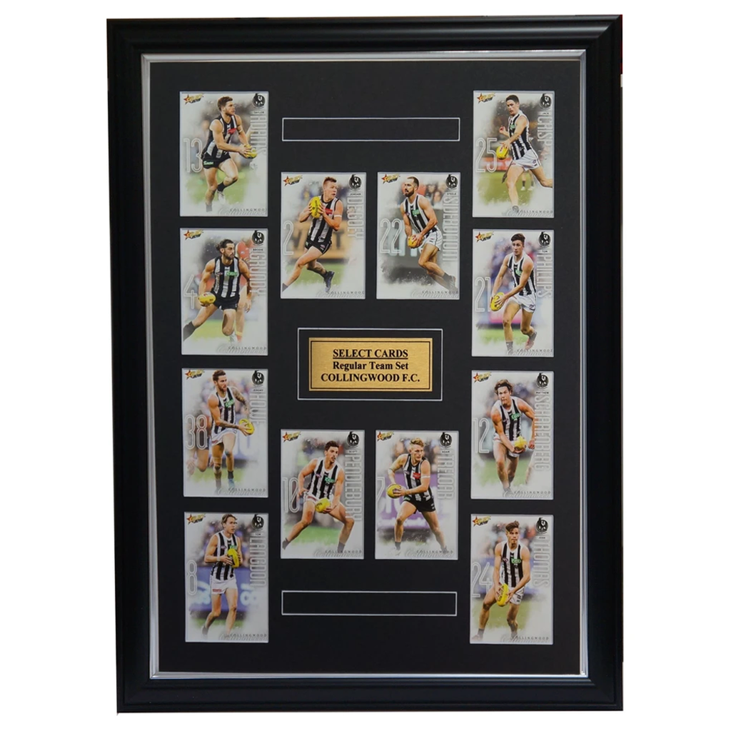 Collingwood Magpies 2019 Select Card Team Set Framed Scott Pendlebury Sidebottom - 3616