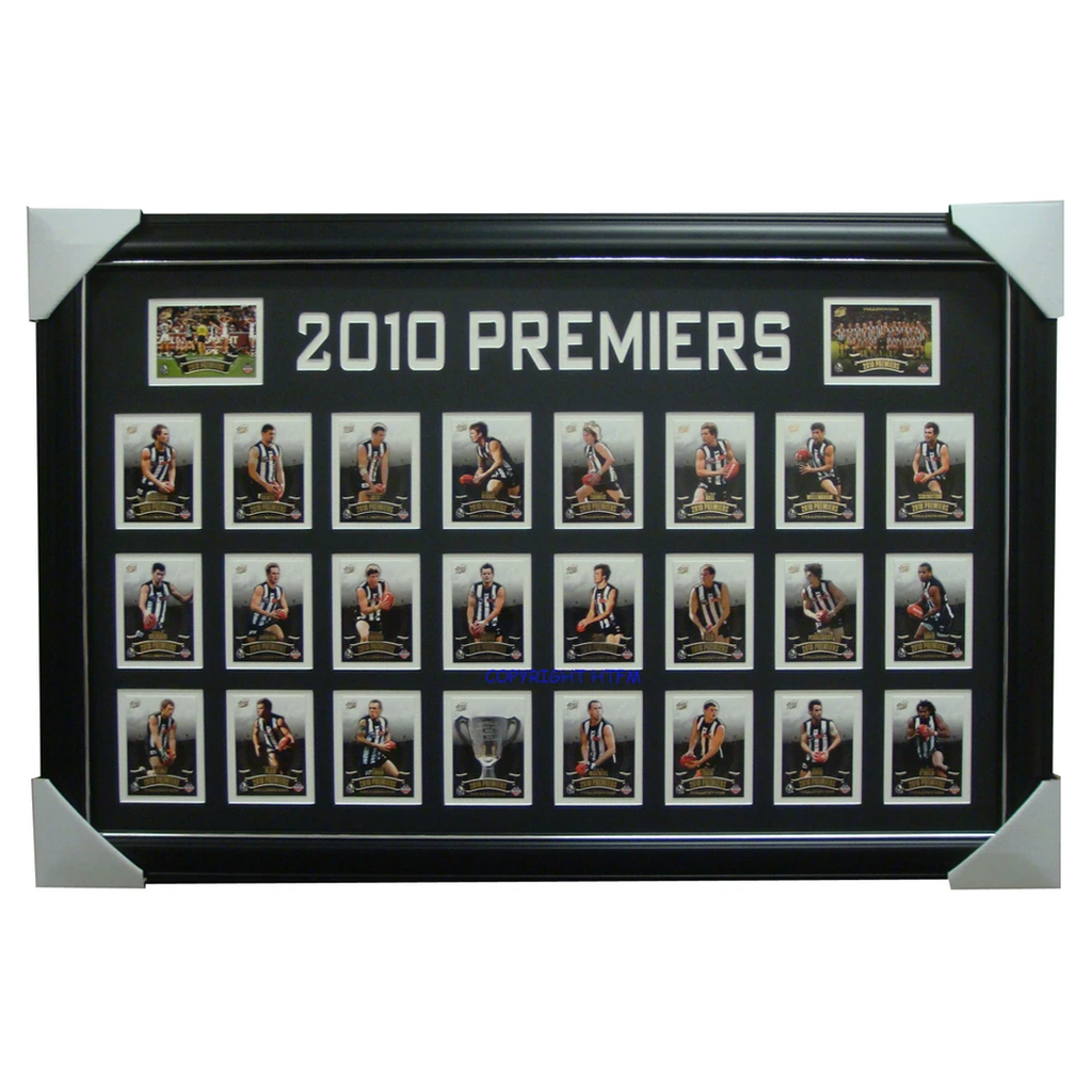 Collingwood Premiership 2010 Limited Edition Cards Framed - 3137