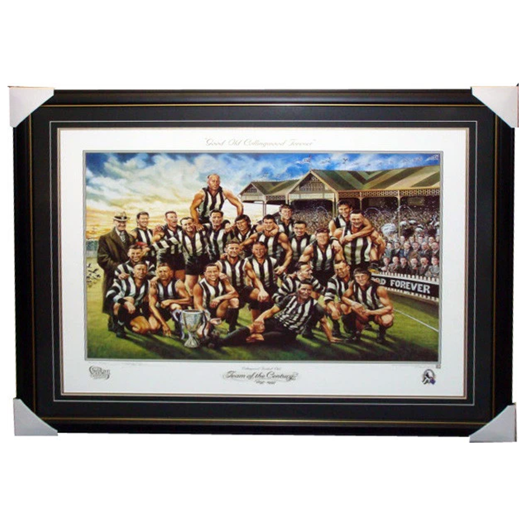 Collingwood Team of the Century Jamie Cooper L/E Print Framed - 3847
