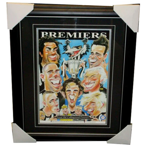 Collingwood Weg's World Limited Edition 2010 Premiers Print Framed - 2740