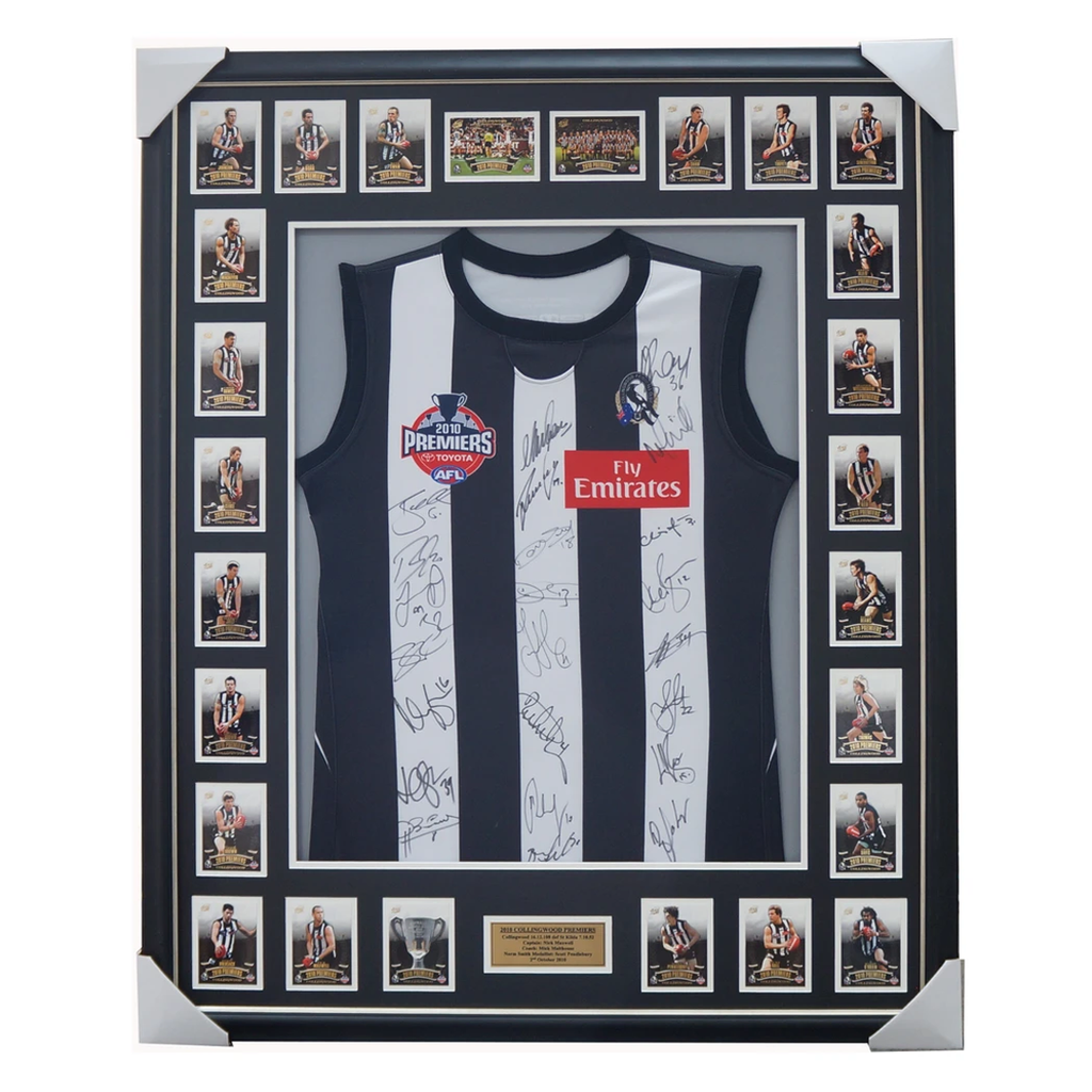 Collingwood 2010 Premiers Limited Edition Signed Jumper Framed - 1002