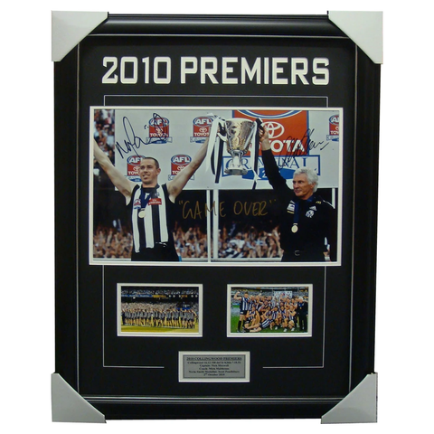 Collingwood 2010 Premiers Signed Captain & Coach Frame - 3305