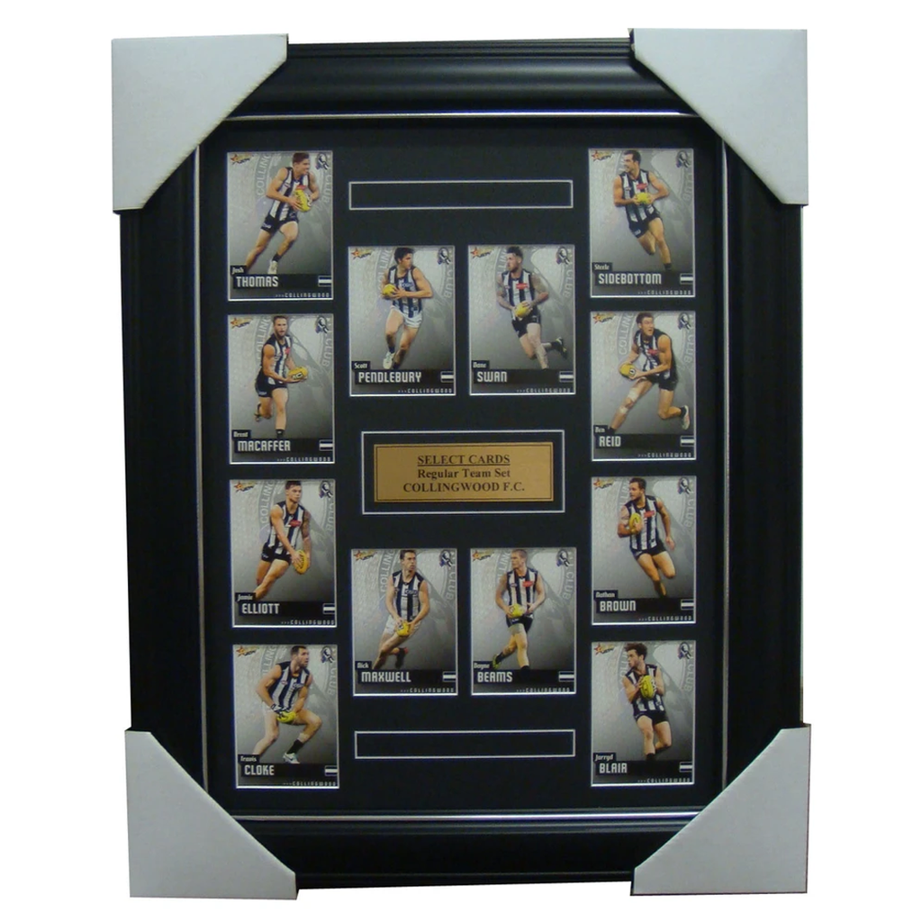 Collingwood 2014 Limited Edition Select Cards Set Framed - Pendlebury Swan Cloke - 1699