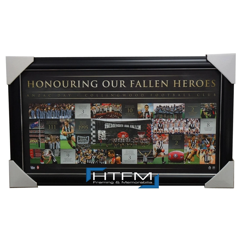 Collingwood Anzac Day AFL Limited Edition Print Framed - 1807