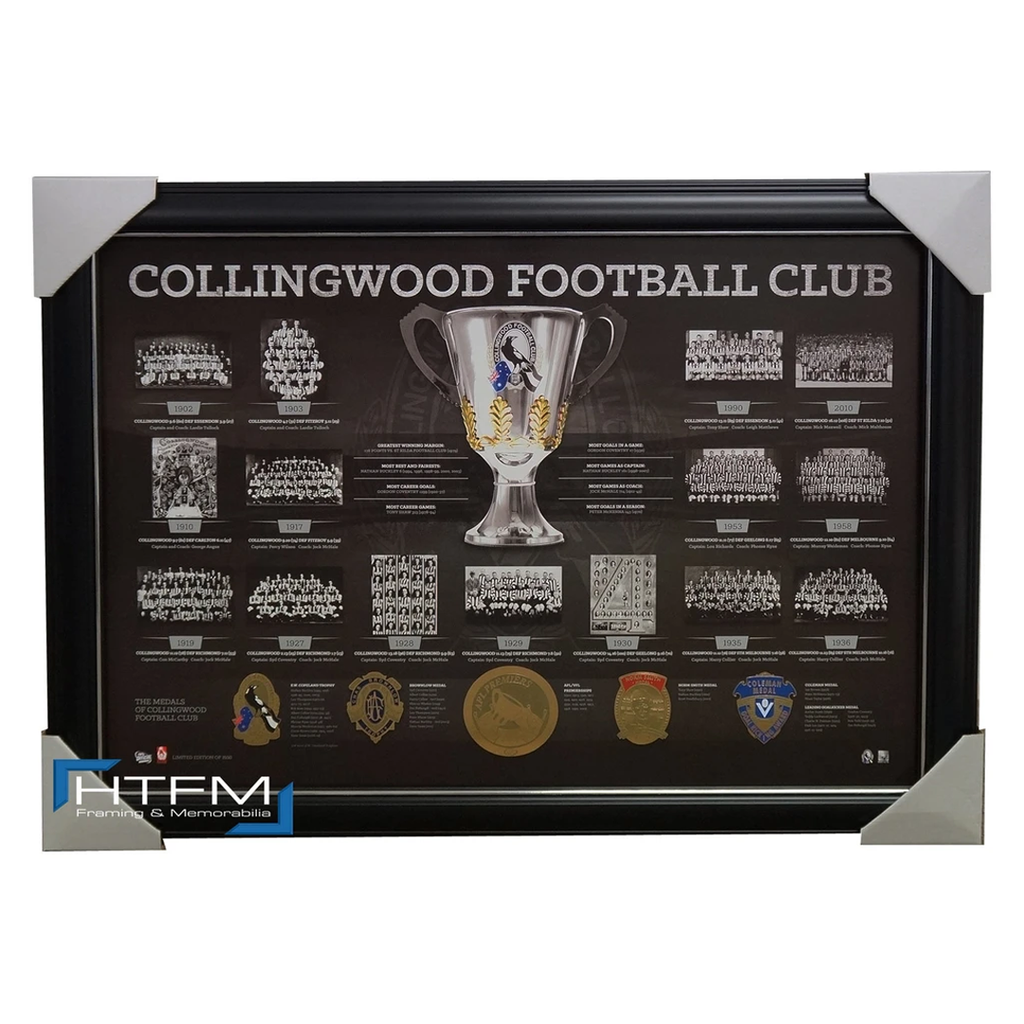 Collingwood Historical Series Premiership AFL Licensed Print Framed - 1853