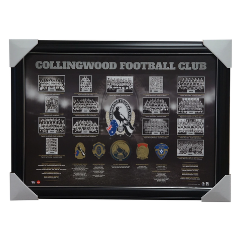 Collingwood Limited Edition Historical Series Print with Embossed Medals Framed - 2984
