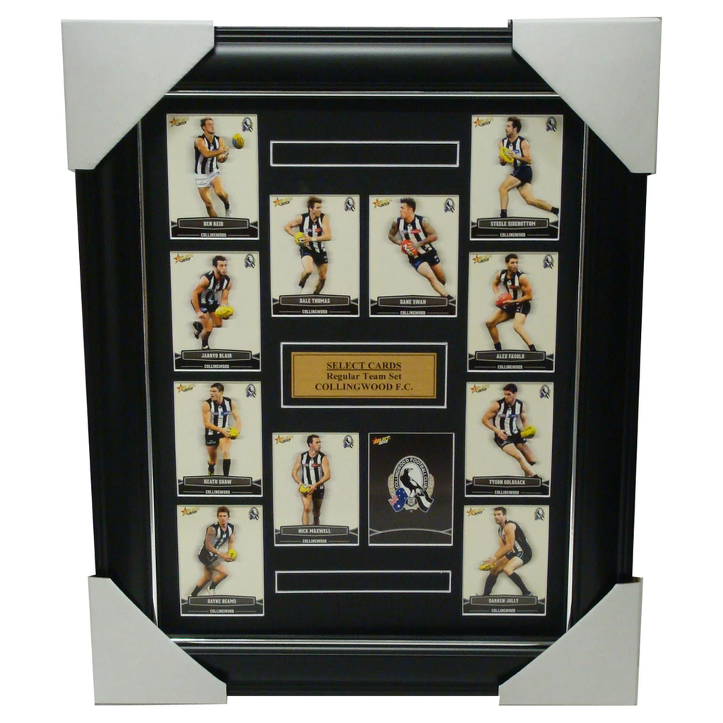 Collingwood Magpies 2013 Select Cards Set Framed includes Swan, Pendlebury - 1191