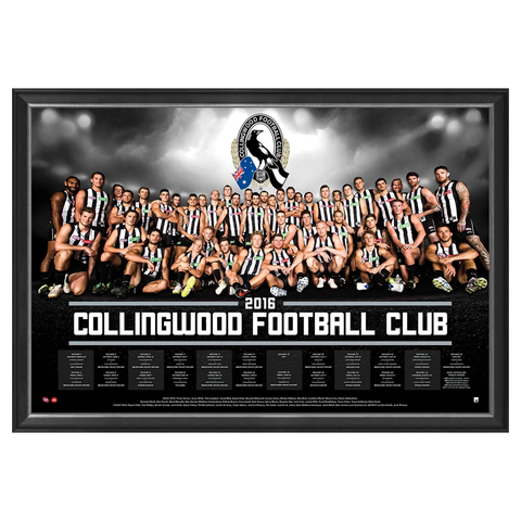 Collingwood Magpies 2016 Official Afl Team Print Framed Scott Pendlebury Dane Swan - 2722