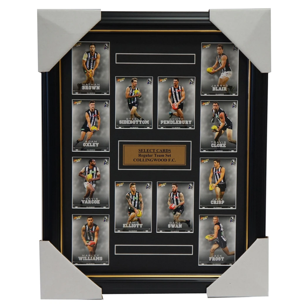 Collingwood Magpies 2016 Select Card Team Set Framed Scott Pendlebury Dane Swan - 2638