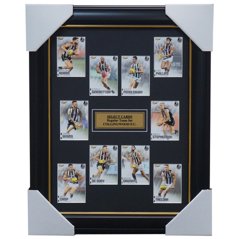 Collingwood 2020 Select Team Card Set Framed De Goey Pendlebury Grundy - 3998