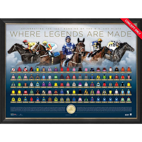 Cox Plate 100 Years L/E Where Legends are Made Print Framed - 4866