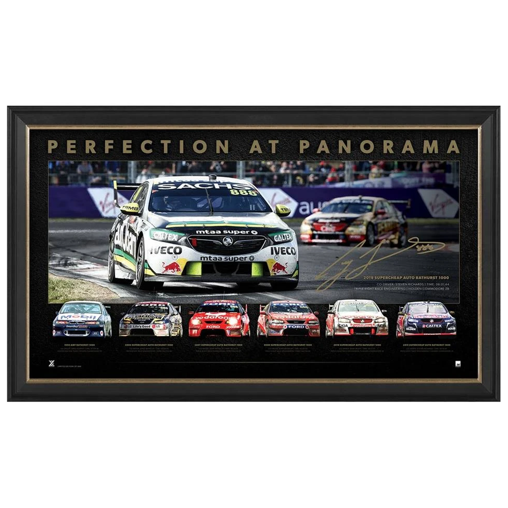 Craig Lowndes Bathurst Perfection at Panorama L/E Retirement Print Framed - 3989