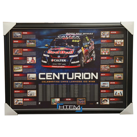Craig Lowndes Holden Centurion Limited Edition V8 Supercars Unsigned Print Framed - 2622