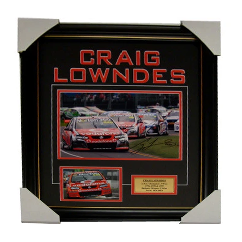 Craig Lowndes Holden Signed Photo Collage Framed - 4050