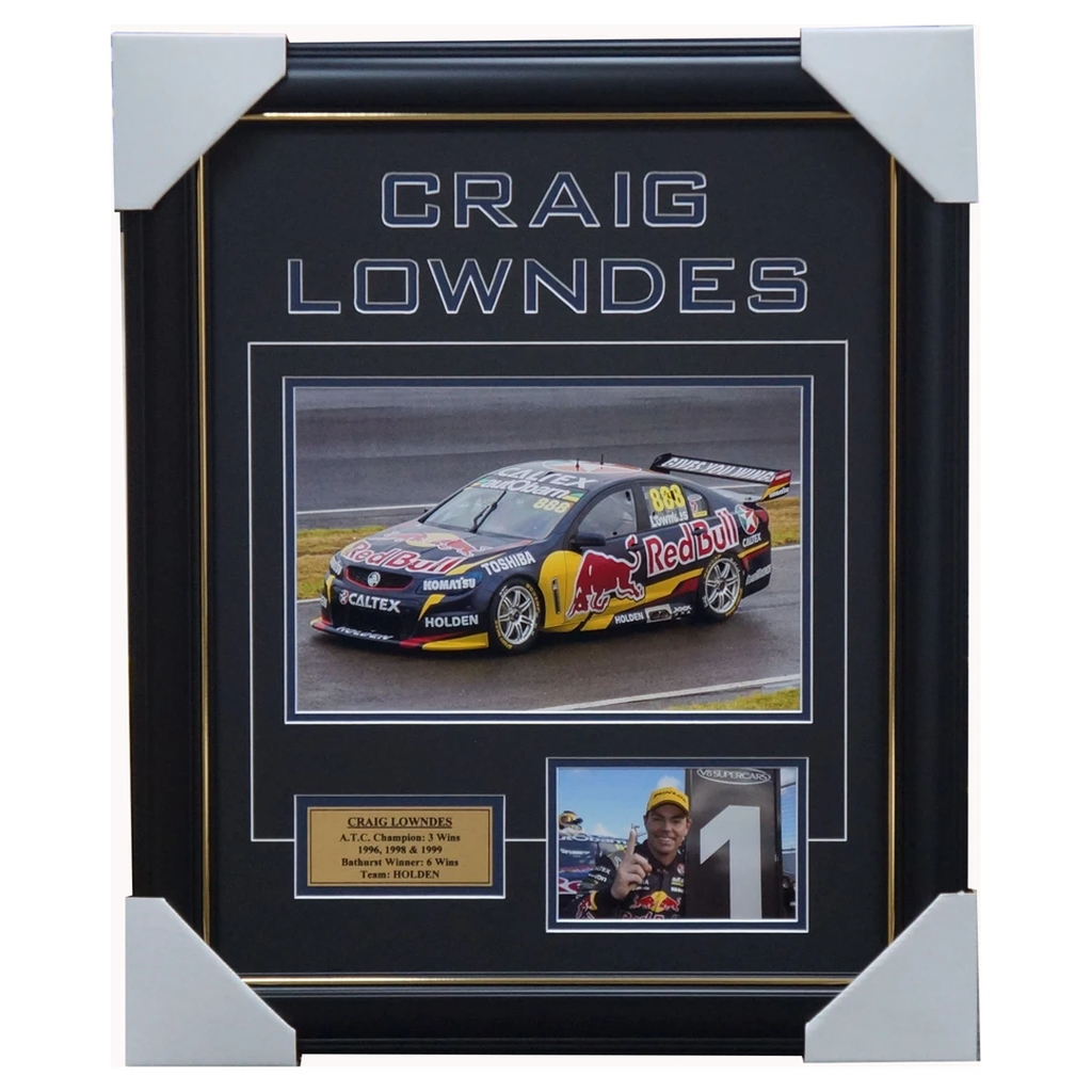 Craig Lowndes Red Bull Holden Photo Collage Framed - 3285