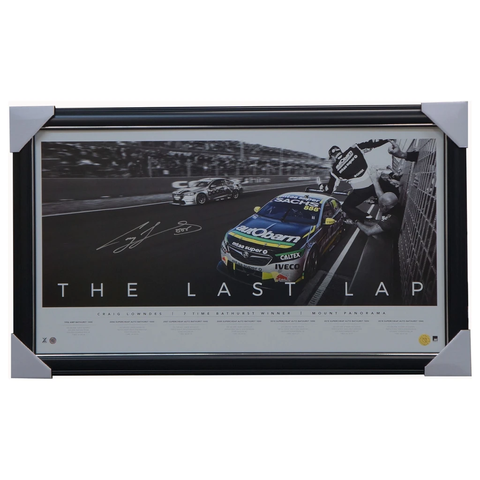 "Craig Lowndes Signed Bathurst ""The Last Lap"" Official Triple Eight Print Framed - 3526"