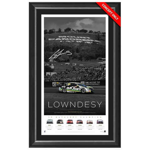 Craig Lowndes Signed Mount Panorama Official Triple Eight Print Framed - 3534 IN STOCK