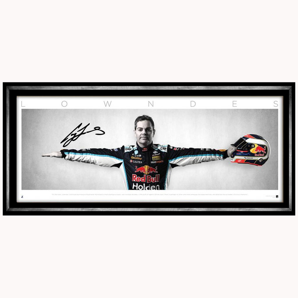 Craig Lowndes Signed Wings Triple Eight Racing Team Official Print Framed - 4525