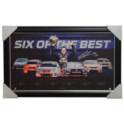 Craig Lowndes V8 Six of the Best Limited Edition Bathurst Print Framed - 2592