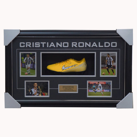 Cristiano Ronaldo Signed Juventus Nike Boot Box Framed with Photos - 4370