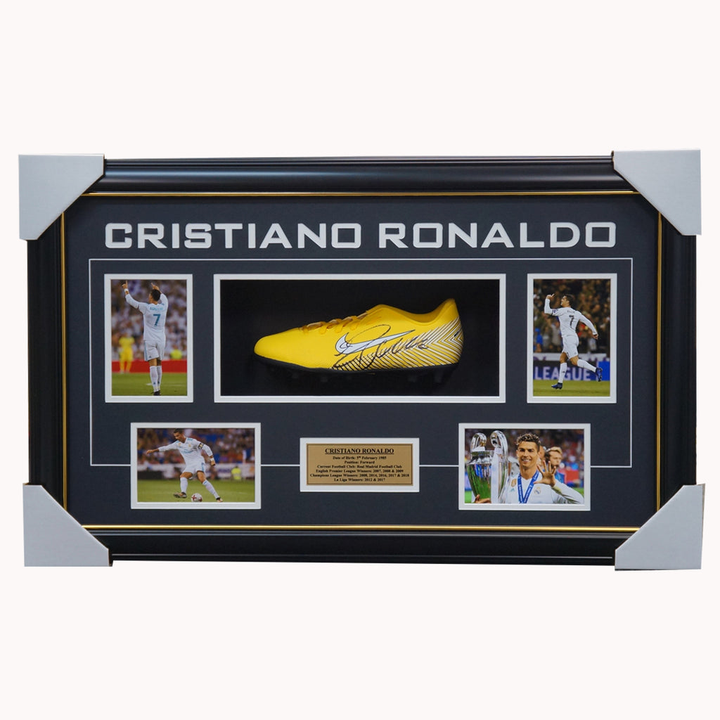 Cristiano Ronaldo Signed Real Madrid Nike Boot Box Framed UEFA Champions - 2904