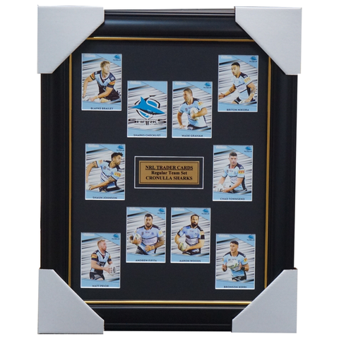 2020 NRL Traders Cards Cronulla Sharks Team Set Framed Graham Woods Fifita - 4021