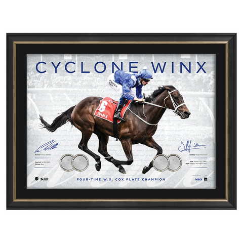 Cyclone Winx 2018 Cox Plate Champion Signed Official Print Framed in Stock - 3543