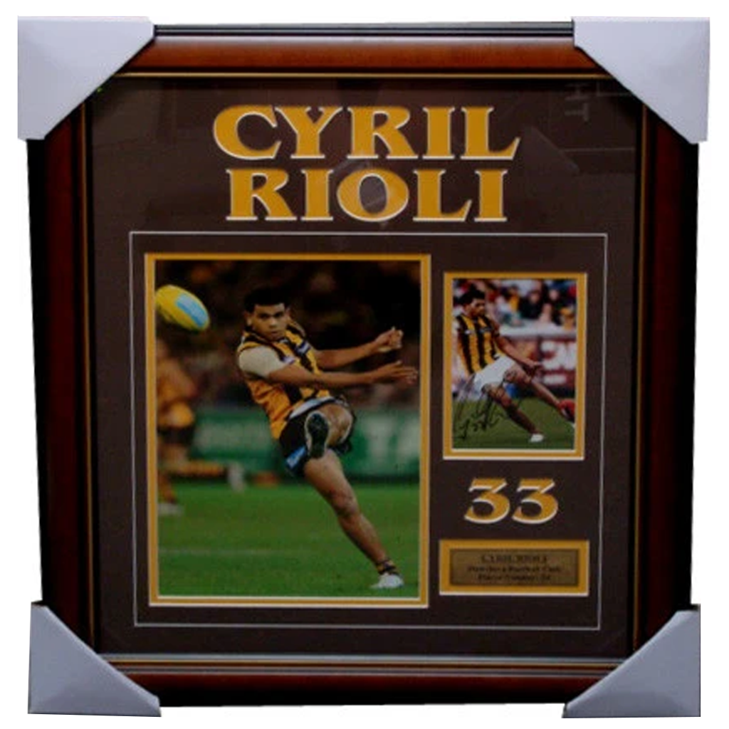 Cyril Rioli Hawthorn Signed Photo Collage Framed - 3905