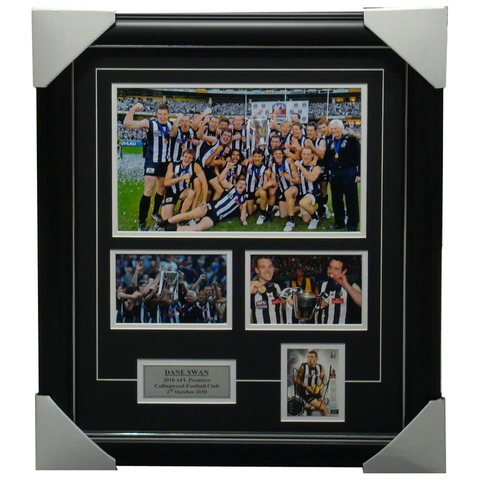 Dane Swan Collingwood 2010 Premiership Signed Photo Collage Framed - 3133