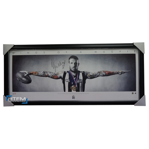 Dane Swan Signed Afl Collingwood Wings Official Licensed Print Framed Brownlow - 1849