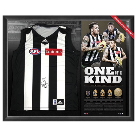 Dane Swan Signed Collingwood Limited Edition AFL Retirement Jumper Framed - 2932