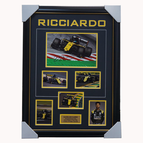 Daniel Ricciardo Renault Racing Team Signed Photo Collage Framed - 4513