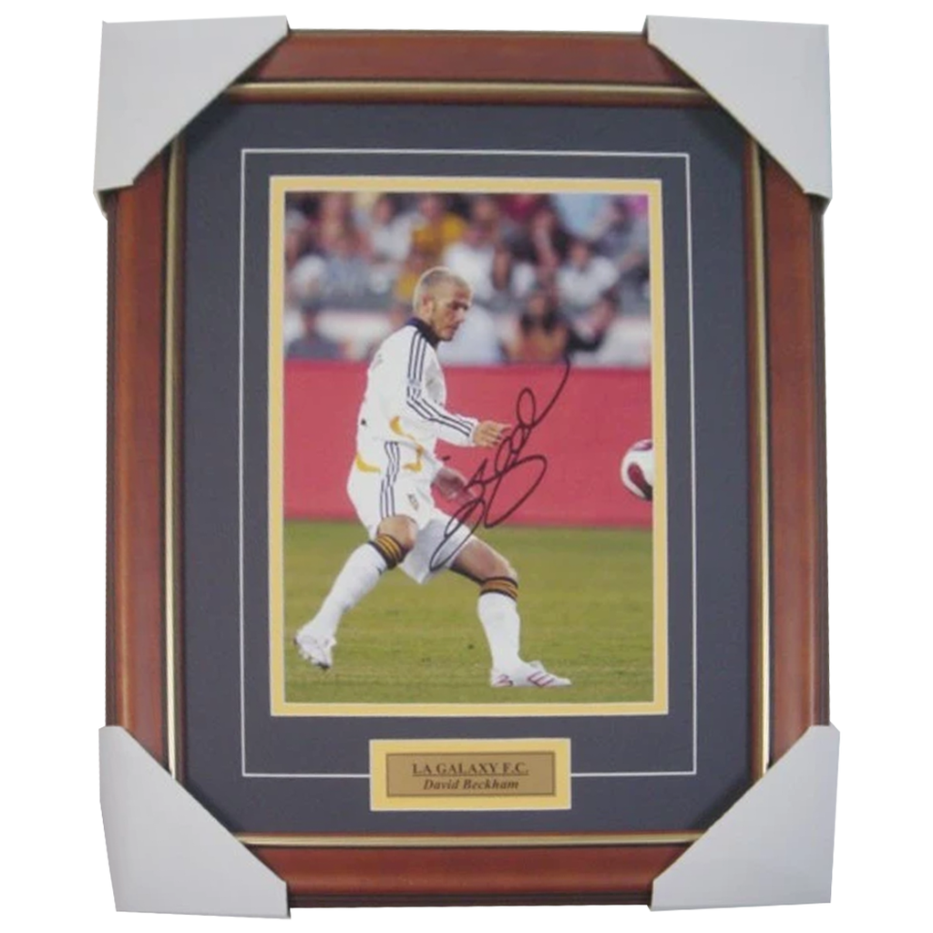 David Beckham La Galaxy Signed Photo Framed With Plaque - 1745