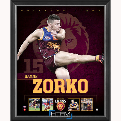 Dayne Zorko Brisbane Lions F.C. Official Licensed AFL Print Framed NEW - 3716