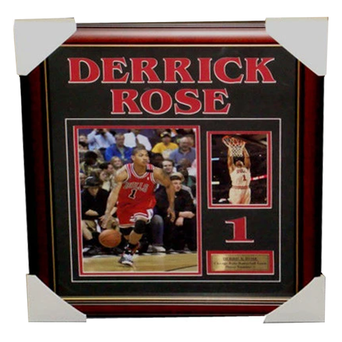 Derrick Rose Chicago Bulls Photo Collage Framed - 3335